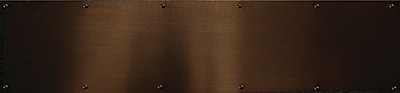 Verona Home Design Kick Plate; Colonial Bronze