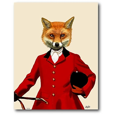 Courtside Market 'Fox Hunter Portrait' Painting Print on Wrapped Canvas