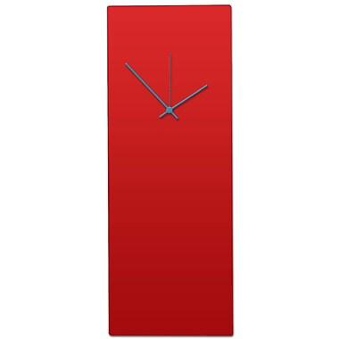 Metal Art Studio Redout Modern Metal Wall Clock; Red & Black