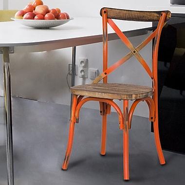 AdecoTrading Side Chair; Orange
