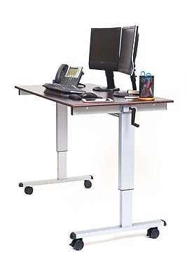 Luxor Standard Sit & Stand Desk, Brown (STANDUP-CF60-DW)