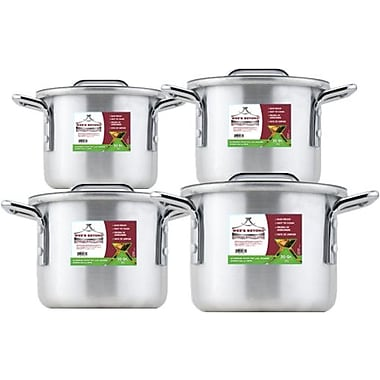 Wee's Beyond 4 Piece Aluminum Stock Pot Set