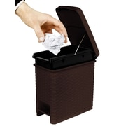 Superior Performance Plastic 1.63 Gallon Step On Trash Can