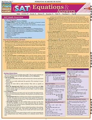 BarCharts, Inc. QuickStudy® SAT Reference Set (9781423230328)