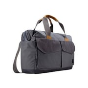 "Case Logic ® LoDo Gray Cotton Canvas 15"" - 16"" Laptop Satchel (LODB115)"