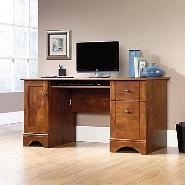 Sauder Computer Desk, Brushed Maple
