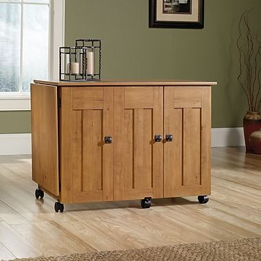 Sauder Sewing Craft Cart, Amber Pine