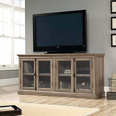 Sauder Barrister Lane Storage Credenza, Salt Oak 2 Ctns