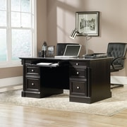 Sauder Palladia Executive Desk, Wind Oak