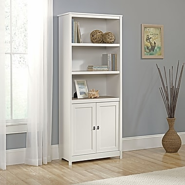 Sauder Cottage Road Library With Doors, Soft White