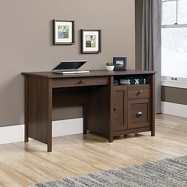 Sauder County Line Desk, Rum Walnut