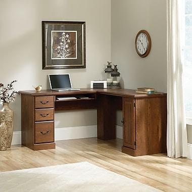 Sauder Orchard Hills Cornr Computer Desk, Milled Cherry 2 Ctns