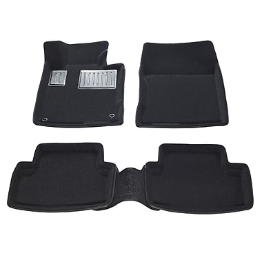 Findway 3D Car Floor Mats (01050BB) for 2009-2014 Acura TSX Sedan/Sport Wagon, Black