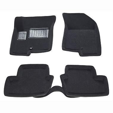 Findway 3D Car Floor Mats (19040BB) for 2007-2015 Jeep Patriot, Black