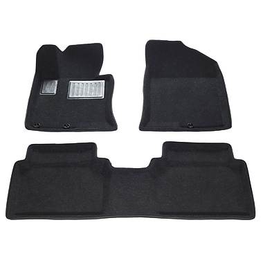 Findway 3D Car Floor Mats (34070BB) for 2011-2013 Kia Optima, Black
