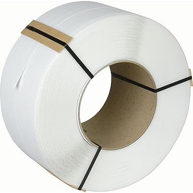 Polypropylene Strapping, PA526, White, 1000/Pack