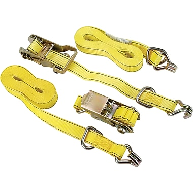 Ratchet Tie-Downs, PC497, Rated Capacity/lbs. - 1500, 4/Pack