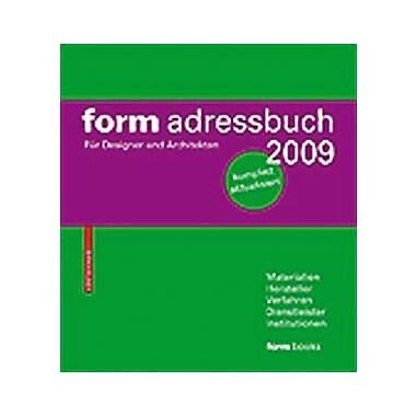 Form Adressbuch 2009 Fur Designer Und Architekten German Edition, New Book (9783764388614)