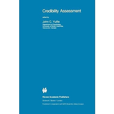 Credibility Assessment Nato Science Series D (9789048140435)