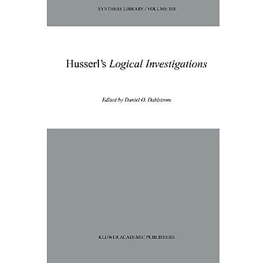 Husserls Logical Investigations Synthese Library, New Book (9789048162987)