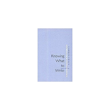Knowing What To Write Conceptual Processes In Text Production Amsterdam University Press - Studies In, Used Book (9789053563076)