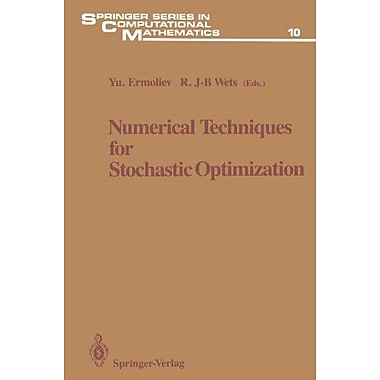 Numerical Techniques For Stochastic Optimization Springer Series In Computational Mathematics, New Book (9783642648137)