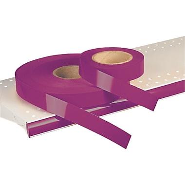 Kostklip® – Bandelette-étiquette ShelfLife™ pour porte-prix, non imprimées, 1,25 po, Bourgogne, 500 pi/rouleau (26SL-100880)