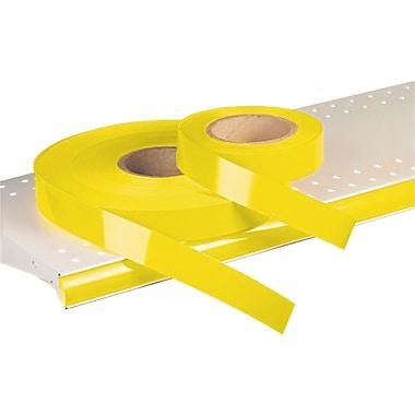 Kostklip® – Bandelette-étiquette ShelfLife™ pour porte-prix, non imprimées, 1,25 po, jaune citron, 500 pi/rouleau (26SL-100907)