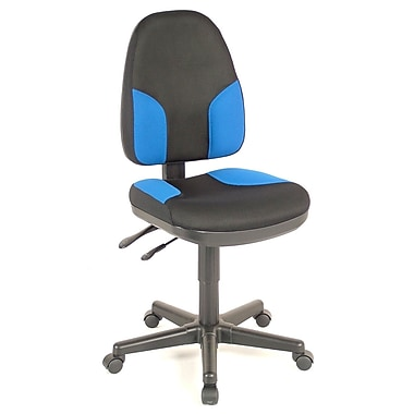 Alvin and Co. Monarch Mid-Back Desk Chair; Black & Blue