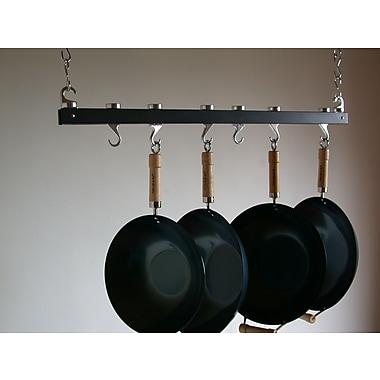 Taylor & Ng Track Rack Ceiling Pot Rack; Anthracite Grey Wood