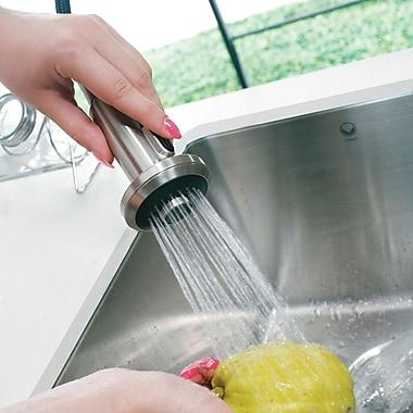 Vigo Astor Single Handle Pull-Down Spray Kitchen Faucet w/ Soap Dispenser