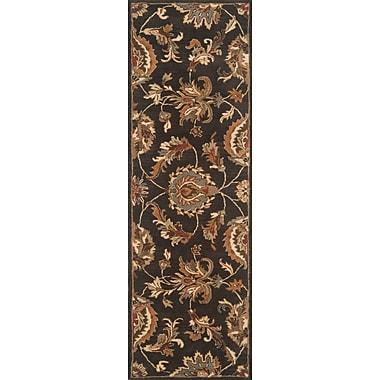 Continental Rug Company Serene Hand-Woven Wool Black Area Rug; Runner 2'6'' x 10'