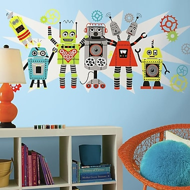 Room Mates Waverly Robots Peel and Stick Giant Wall Decal