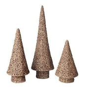 Dekorasyon 3 Piece Vine Cone Tree Set