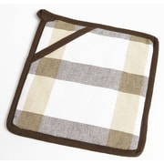 Flato Home Check Pot Holder; Taupe/Brown
