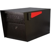Mail Boss Mail Manager Locking Post Mounted Mailbox; Black