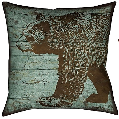 LauralHome Lodge Bear Throw Pillow