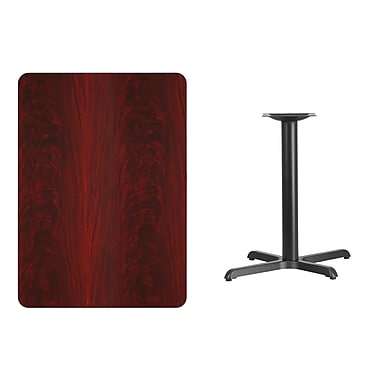 Flash Furniture 30'' x 42'' Rectangular Laminate Table Top, Mahogany with 22'' x 30'' Table-Height Base (XUMA3042T2230)