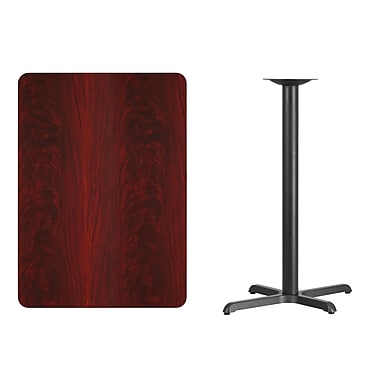 Flash Furniture – Table bistro en stratifié acajou de 30 x 42 po avec base de 22 x 30 po (XUMA3042T2230B)