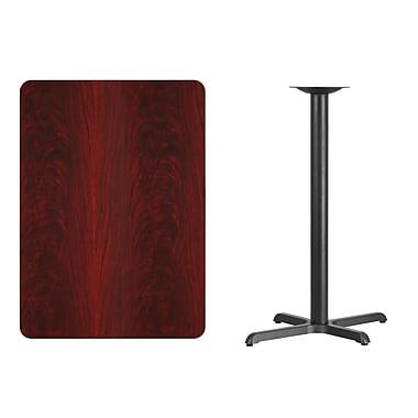 Flash Furniture 30'' x 42'' Rectangular Laminate Table Top, Mahogany with 22'' x 30'' Bar-Height Table Base (XUMA3042T2230B)