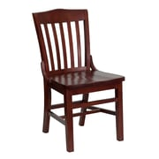 Flash Furniture  Hercules Series Schoolhouse-Back Wood Restaurant Chair, Mahogany Finish (XUDGW0006MAH)