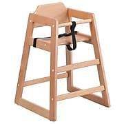 Flash Furniture HERCULES Series Wood Stacking High Chair, Natural (XUDGW0024NAT)