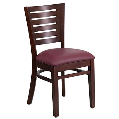 Flash Furniture Hercules Series Black Grid Back Metal Restaurant Chair, Burgundy Vinyl Seat, (XUDG615GRDBURV)