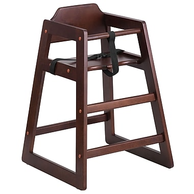Flash Furniture Hercules Series Stackable Walnut Baby High Chair (XUDGW0024WAL)