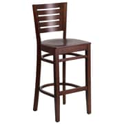 Flash Furniture Darby Series Slat-Back Wood Restaurant Barstool, Walnut (XUDGW018BWA)