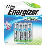 Energizer EcoAdvanced AAA Batteries, AAA, Alkaline, 6 Pack