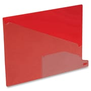 "Pendaflex Poly End Tab Out Guides, Letter, 8.50"" Width x 11"" Length, Red Polypropylene Divider, Red Polypropylene Tab, 5 / Box"