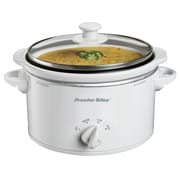 Proctor Silex  1.5 qt Portable Slow Cooker, White (33116Y)