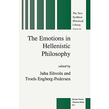 The Emotions In Hellenistic Philosophy The New Synthese Historical Library (9789048151233)