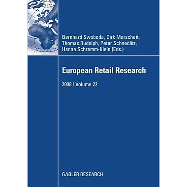 European Retail Research 2008 Volume 22, New Book (9783834910844)